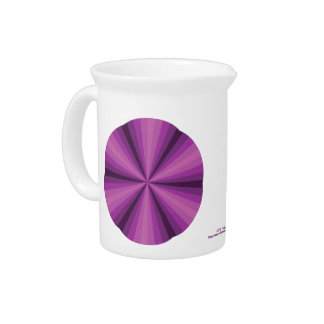Optical Illusion Purple Pitcher