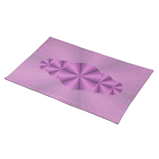 Optical Illusion Purple Placemat