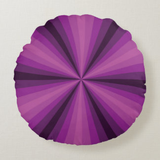 Optical Illusion Purple Round Pillow