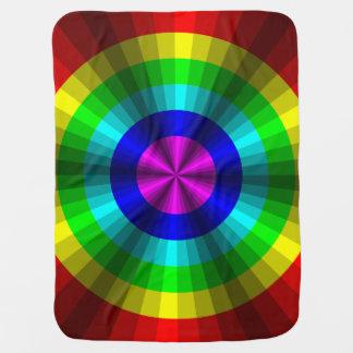 Optical Illusion Rainbow Baby Blanket