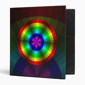 Optical Illusion Rainbow Binder