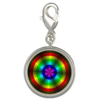 Optical Illusion Rainbow Charm
