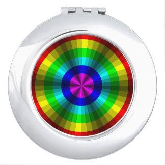 Optical Illusion Rainbow Compact Mirror