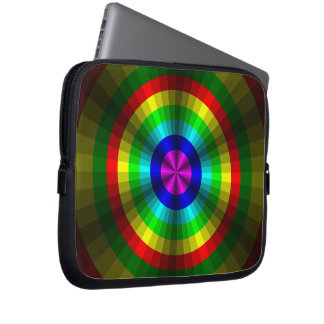 Optical Illusion Rainbow Laptop Case