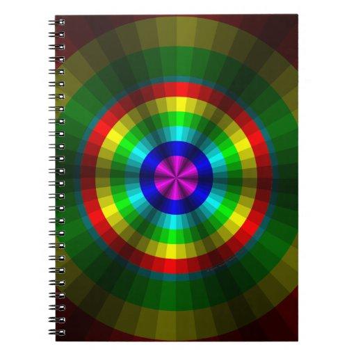 Optical Illusion Rainbow Notebook