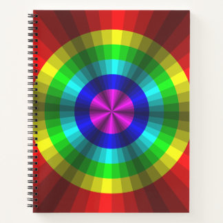 Optical Illusion Rainbow Spiral Notebook