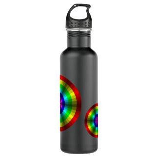 Optical Illusion Rainbow Water Bottle