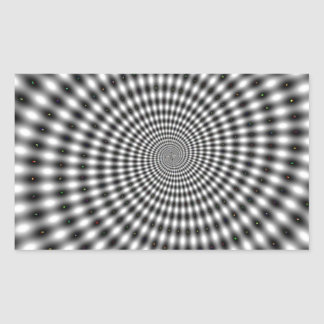 Optical Illusion Rectangular Sticker