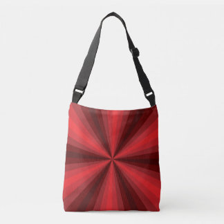 Optical Illusion Red All-Over-Print Bag