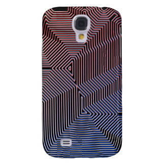 Optical Illusion Red-Blue Galaxy S4 Covers