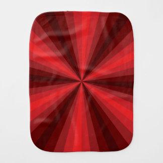 Optical Illusion Red Burp Cloth