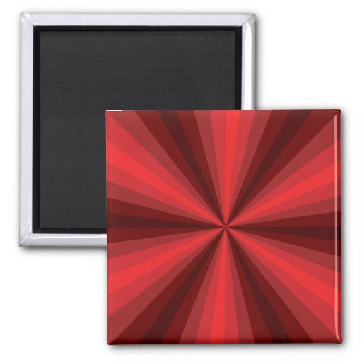 Optical Illusion Red Magnet