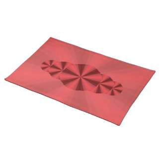 Optical Illusion Red Placemat Cloth Placemat
