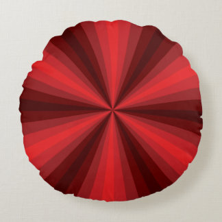 Optical Illusion Red Round Pillow
