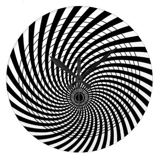 Optical Illusion Retro Art Clock Zazzle
