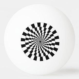 OPTICAL ILLUSION Retro Art Ping Pong Ball
