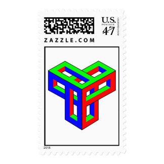 Optical Illusion - RGB Blocks Postage