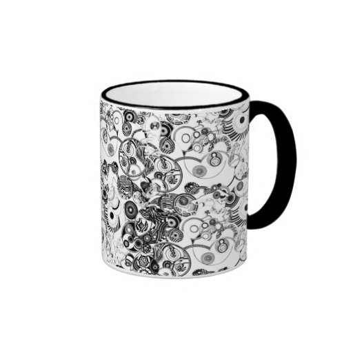 Optical Illusion Ringer Coffee Mug