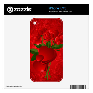 Optical Illusion Roses Zazzle Skin Decals For The iPhone 4