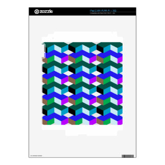 optical illusion iPad 2 decal