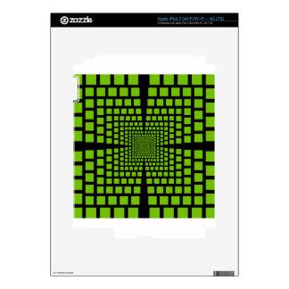 Optical illusion iPad 3 decals
