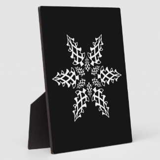 Optical Illusion Snowflake Christmas Trees Plaque