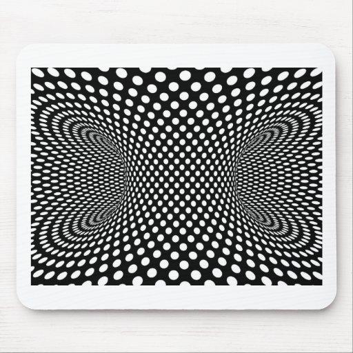 Optical Illusion Spatial Geometric design Mouse Pad | Zazzle