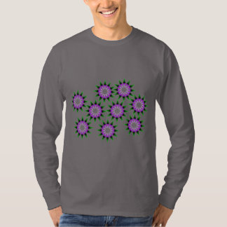 Optical illusion spinning flowers T-Shirt