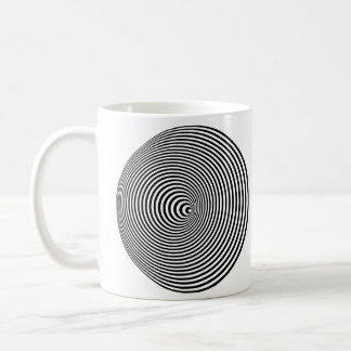 Optical Illusion Spiral - Left-Handed Mugs