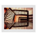 Optical illusion Stairs Poster