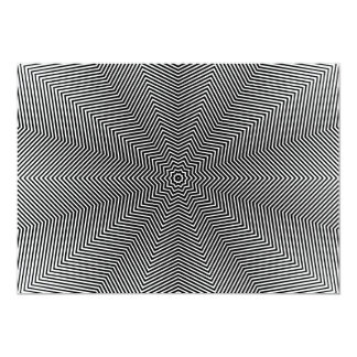 Optical Illusion Star Lines Card