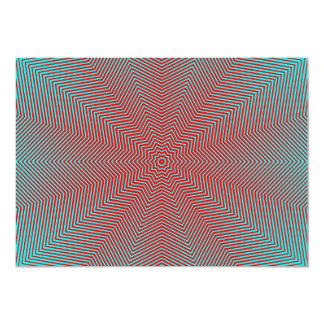 Optical Illusion Star Lines 5x7 Paper Invitation Card