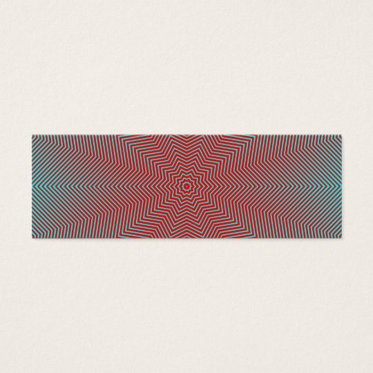 Optical Illusion Star Lines Mini Business Card