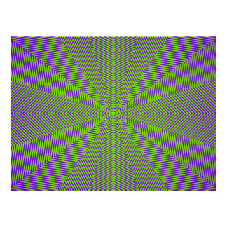 Optical Illusion Star Lines Poster