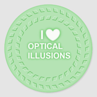 Optical Illusion Stickers, looks cool and works Classic Round Sticker