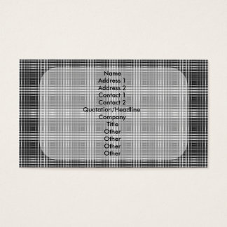 Optical Illusion Stitching Design Business Card