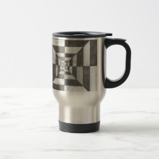 optical illusion travel mug