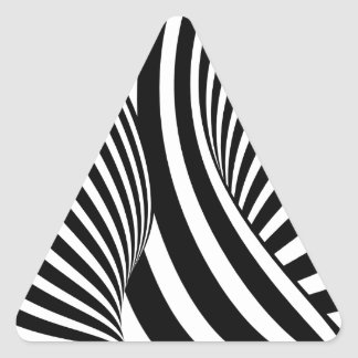 Optical Illusion Triangle Sticker