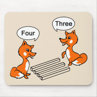 Optical illusion Trick Fox Mouse Pad