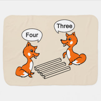 Optical illusion Trick Fox Swaddle Blanket