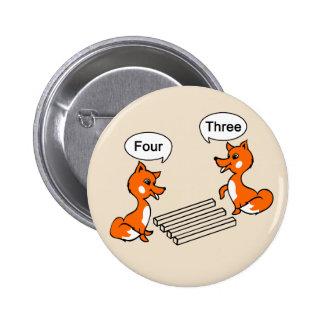 Optical illusion Trick Foxes Button