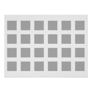 Optical Illusion Vanishing Dots Grey and White Poster