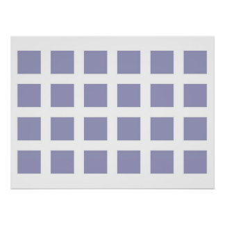 Optical Illusion Vanishing Dots Light Blue White Poster
