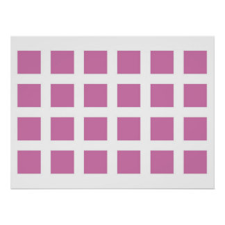 Optical Illusion Vanishing Dots Magenta and White Poster