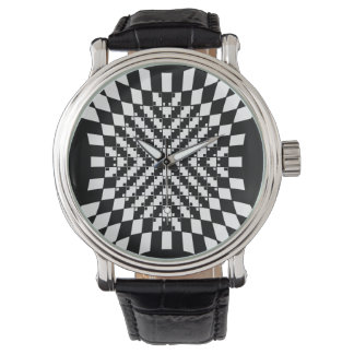 Optical Illusion Watch in Black and White