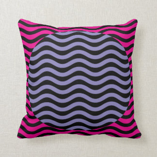 """Optical Illusion Waves No. 6 Pillow """"Two-fer"""""""