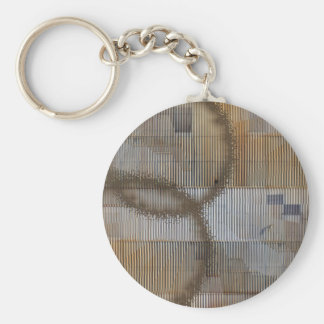 Optical Illusion with coffee stain 2 Basic Round Button Keychain