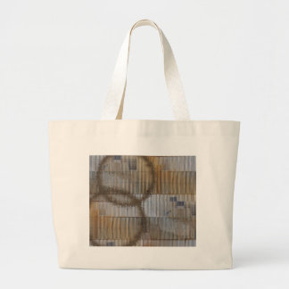 Optical Illusion with coffee stain 2 Large Tote Bag