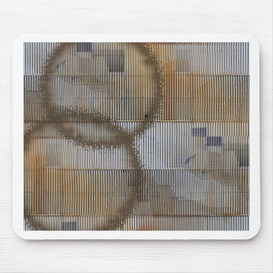 Optical Illusion with coffee stain 2 Mouse Pad