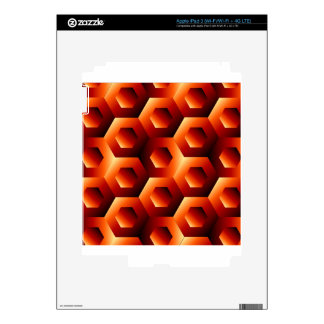 Optical illusion with hexagon skin for iPad 3